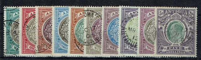 British Commonwealth Stamp Antigua SG 31-40 FU