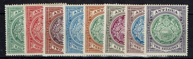 British Commonwealth Stamp Antigua%20SG%2041%2D50%20LMM%2Ejpg