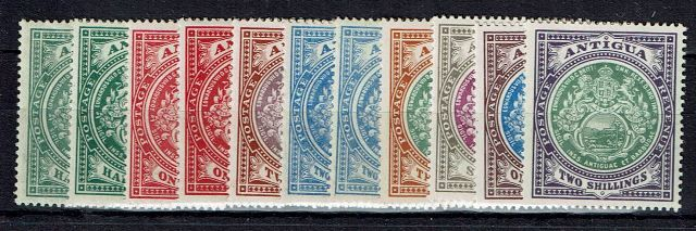 British Commonwealth Stamp Antigua%20SG%2041%2D50%20VLMM%2Ejpg