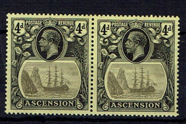 British Commonwealth Stamp Ascension%20SG%2015%2D15b%20VLMM%2Ejpg