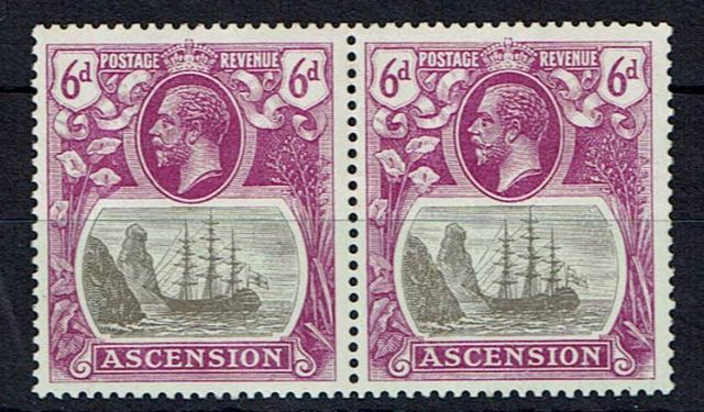 British Commonwealth Stamp Ascension%20SG%2016%2D16b%20VLMM%2Ejpg