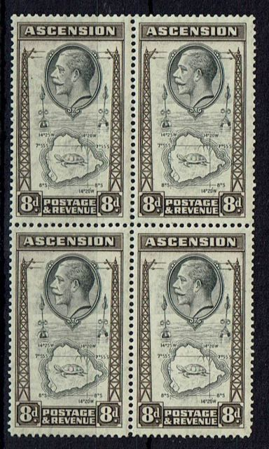 British Commonwealth Stamp Ascension SG 27-27a LMM