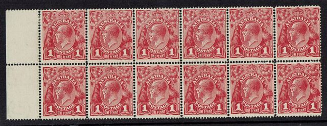 British Commonwealth Stamp Aust SG 21 block of 12