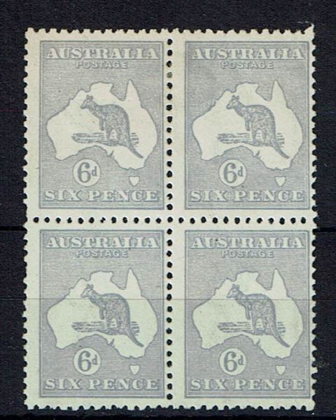 British Commonwealth Stamp Aust SG 38b  Block of 4