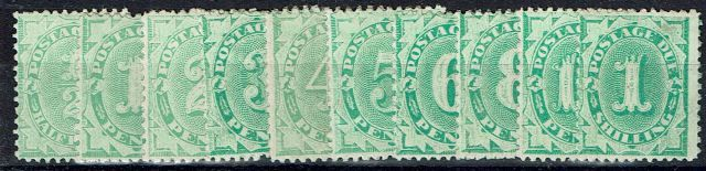 British Commonwealth Stamp Australia SF D22-D31 MM