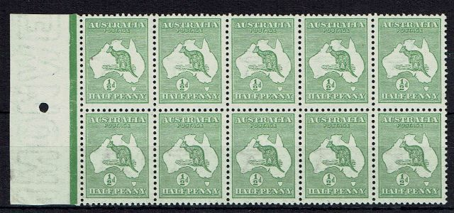 British Commonwealth Stamp Australia%20SG%201%20UMM%20block%20of%2010%2Ejpg