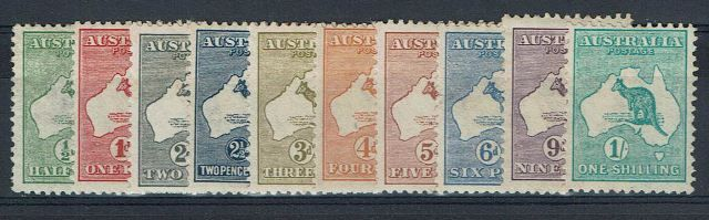 British Commonwealth Stamp Australia SG 1-11 MM