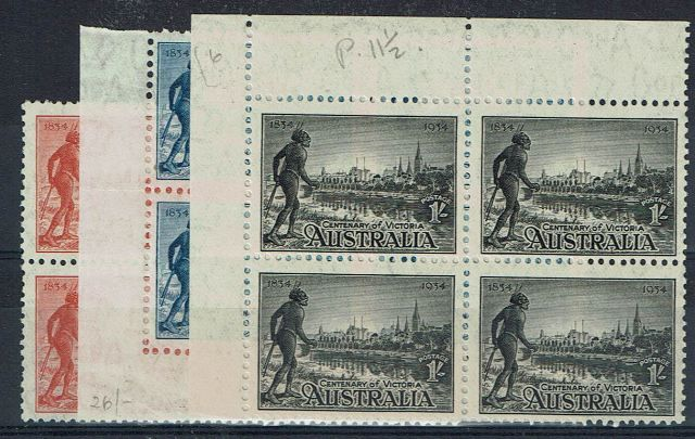 British Commonwealth Stamp Australia SG 147a-9a UMM