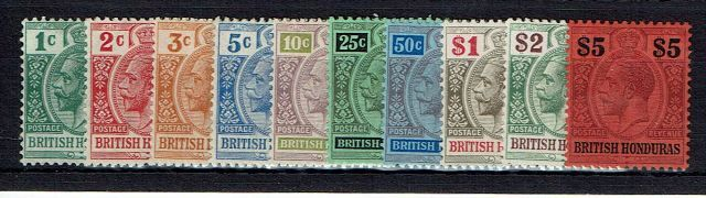 British Commonwealth Stamp B Honduras SG 101-10 LMM