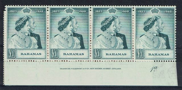 British Commonwealth Stamp Bahamas%20SG%20194%2D5%20UMM%20imprint%20block%2Ejpg