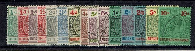 British Commonwealth Stamp British%20Sol%20Isl%20SG%2039%2D52%20FU%2Ejpg