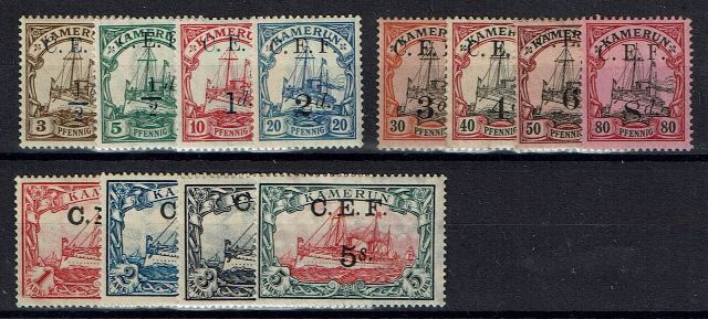 British Commonwealth Stamp Cameroon%20SG%20B1%2D13%20LMM%2Ejpg