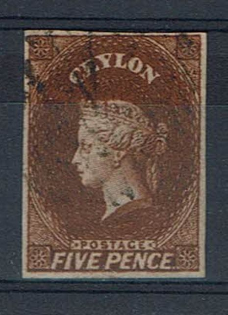 British Commonwealth Stamp Ceylon SG 6c FU