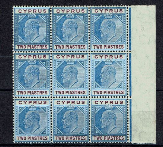 British Commonwealth Stamp Cyprus%20SG%2065%20UMM%20block%209%2Ejpg