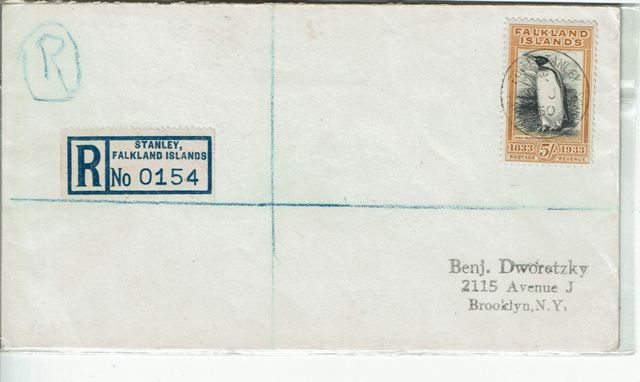 British Commonwealth Stamp Falklands SG 136 FU cover