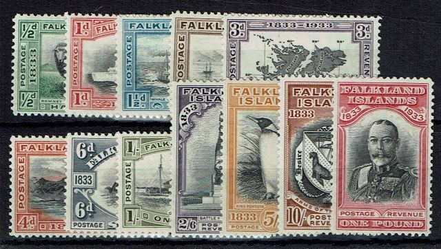 British Commonwealth Stamp Falklands Sg 127-38 MM22092017