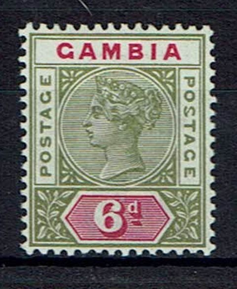 British Commonwealth Stamp Gambia SG 43a MM