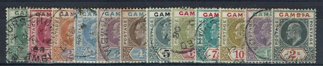 British Commonwealth Stamp Gambia SG 57-68 FU1