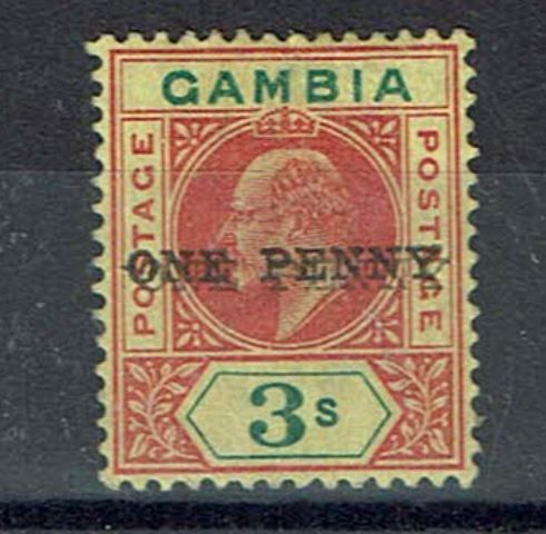 British Commonwealth Stamp Gambia Sg 70a VLMM25092017