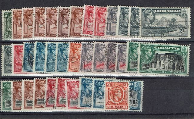 British Commonwealth Stamp Gib SG 121-31 FU complete