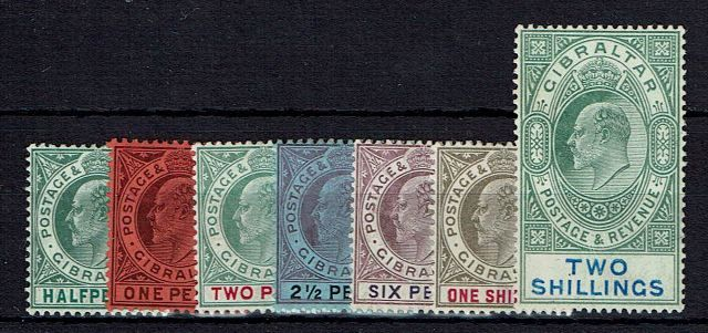 British Commonwealth Stamp Gib%20SG%2056a%2D62%20MM%2Ejpg