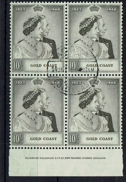 British Commonwealth Stamp Gold%20Coast%20SG%20148%20imprint%20block%20of%204%20FU%2Ejpg