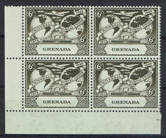 British Commonwealth Stamp Grenada SG 169-169var LMM