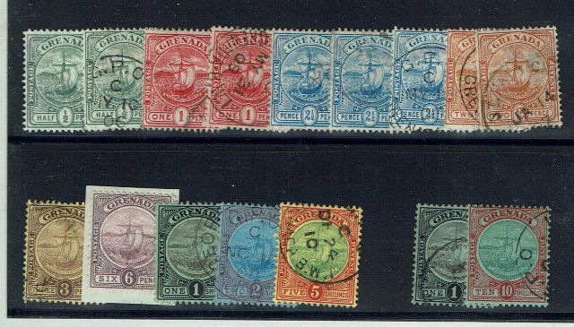 British Commonwealth Stamp Grenada SG 77-88 FU