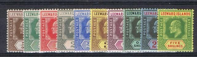British Commonwealth Stamp Leeward%20Islands%20SG%2036%2D45%20LMM%2Ejpg