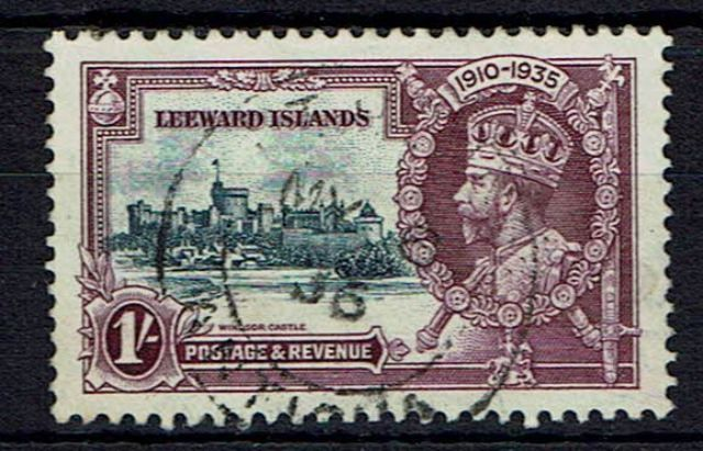 British Commonwealth Stamp Leewards SG 91l FU
