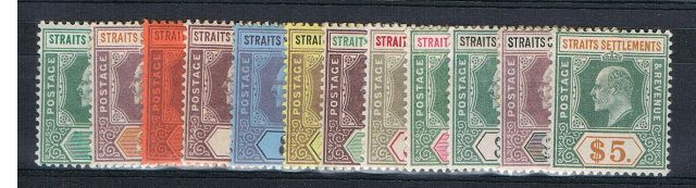 British Commonwealth Stamp Mal Straits SG 110-21 MM