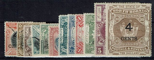 British Commonwealth Stamp N Borneo SG 112-24 MM