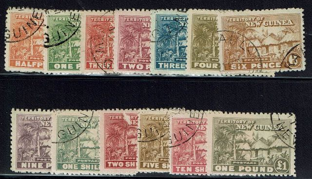 British Commonwealth Stamp New Guinea SG 125-36 FU1