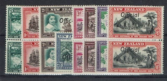 British Commonwealth Stamp New Zealand SG o141a-9a UMM29092017