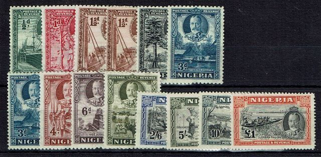 British Commonwealth Stamp Nigeria SG 34-45 LMM3