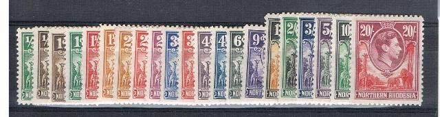 British Commonwealth Stamp Northern%20Rhodesia%20SG%2025%2D45%20LMM%20005%2Ejpg