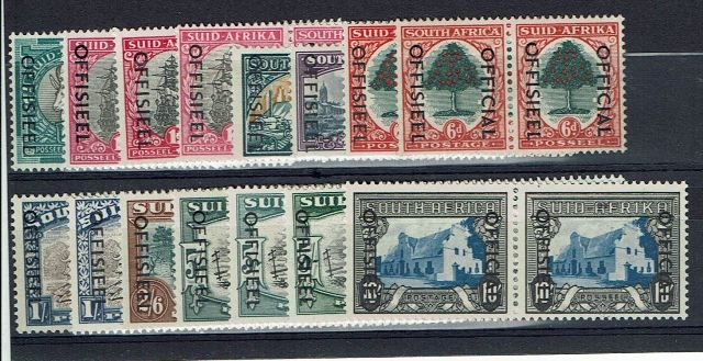British Commonwealth Stamp S Africa SG o39-51 LMM