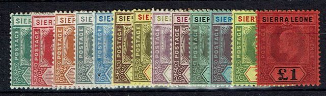 British Commonwealth Stamp S Leone SG 99-111 MM