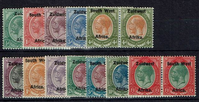 British Commonwealth Stamp SWA SG 16-27 LMM
