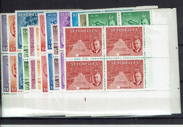 British Commonwealth Stamp Seychelles SG 158-72 UMM