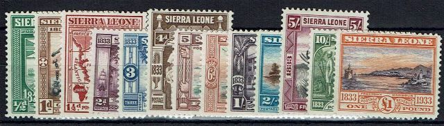 British Commonwealth Stamp Sierra Leone SG 168-80 LMM14102017