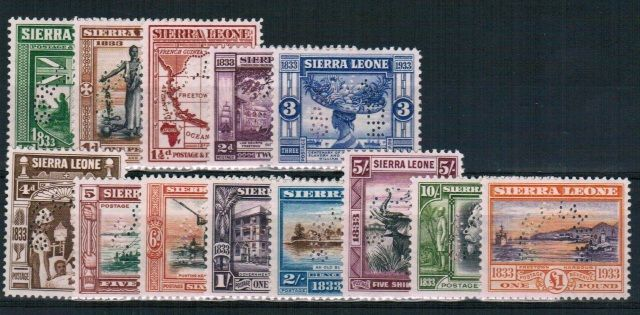 British Commonwealth Stamp Sierra Leone SG 168s-180s LMM