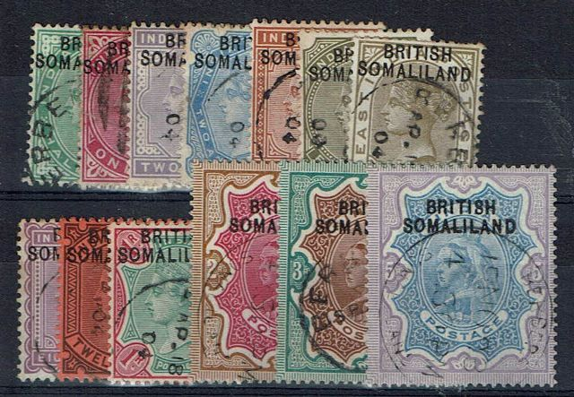British Commonwealth Stamp Somaliland%20SG%201%2D13%20FU%2Ejpg