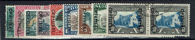 British Commonwealth Stamp South Africa SG o39-51 FU16102017