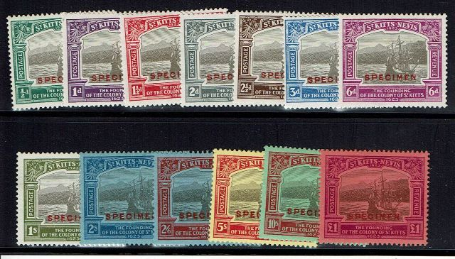 British Commonwealth Stamp St Kitts Nevis SG 48s-60s MM