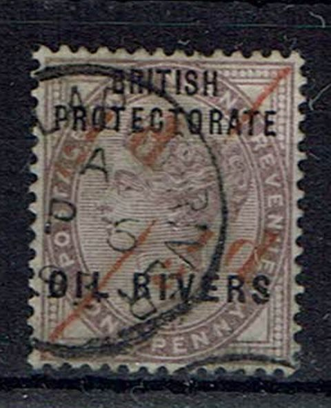 British Commonwealth Stamp oil Rivers SG 7a FU